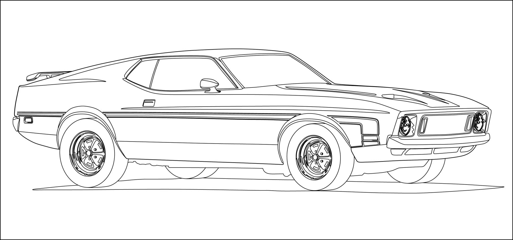 clic muscle cars coloring pages